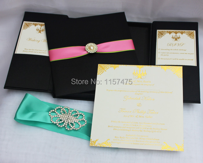 Buy silk wedding invitation boxes and get free shipping on