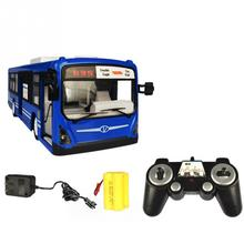 2.4G Remote Control Bus Car Charging Electric Open Door RC Car Model Toys For Children Gifts