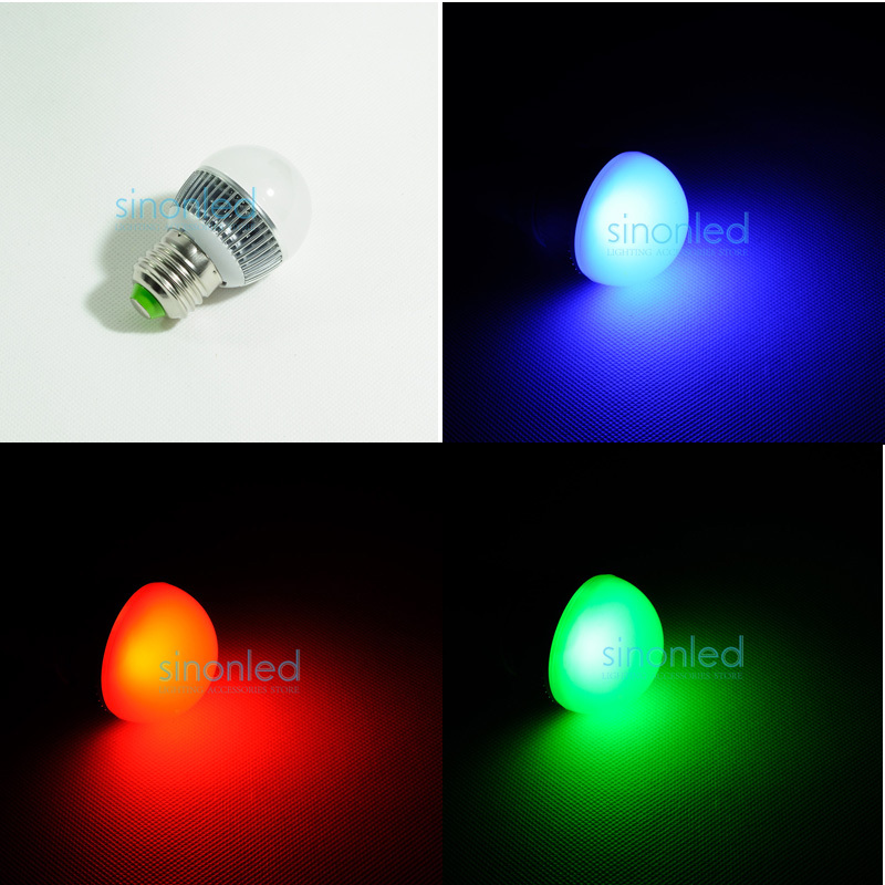 E27 1x3W Chrismas LED Light 395-405nm Lamp Bulbs AC85~265V Chismas leds color red/blue/green ...