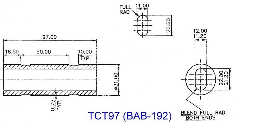 97mm BAB192 (TCT97... BAB349) lámpara única y sola barra de alta potencia de alta reflectividad de Al2O3 cavidad láser Reflector - 5