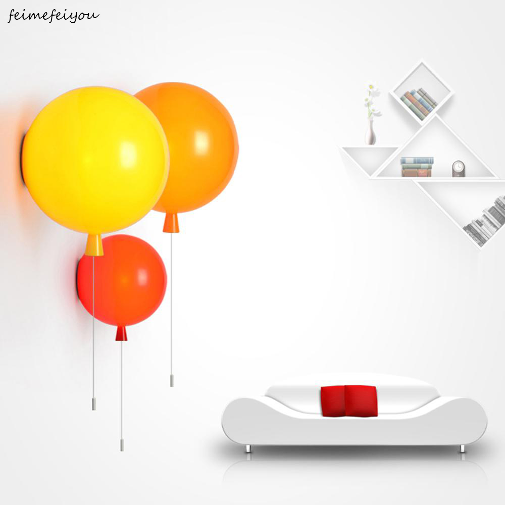 Modern Wall Lamp Wall Sconce Mini Color Balloon Interior Light for Bedroom Childrens Room Kindergarten Fashion Clothing 25cmModern Wall Lamp Wall Sconce Mini Color Balloon Interior Light for Bedroom Childrens Room Kindergarten Fashion Clothing 25cm
