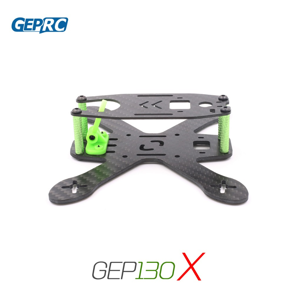 Geprc GEP130X 130mm Carbon Fiber X Shape Frame Kit With PDB XT60 Cable For RC Multicopter Spare Parts geprc gep zx4 gep zx5 gep zx6 170mm 190mm 225mm 4 axis 3k carbon fiber frame kit with 12v 5v pdb board for rc multicopter