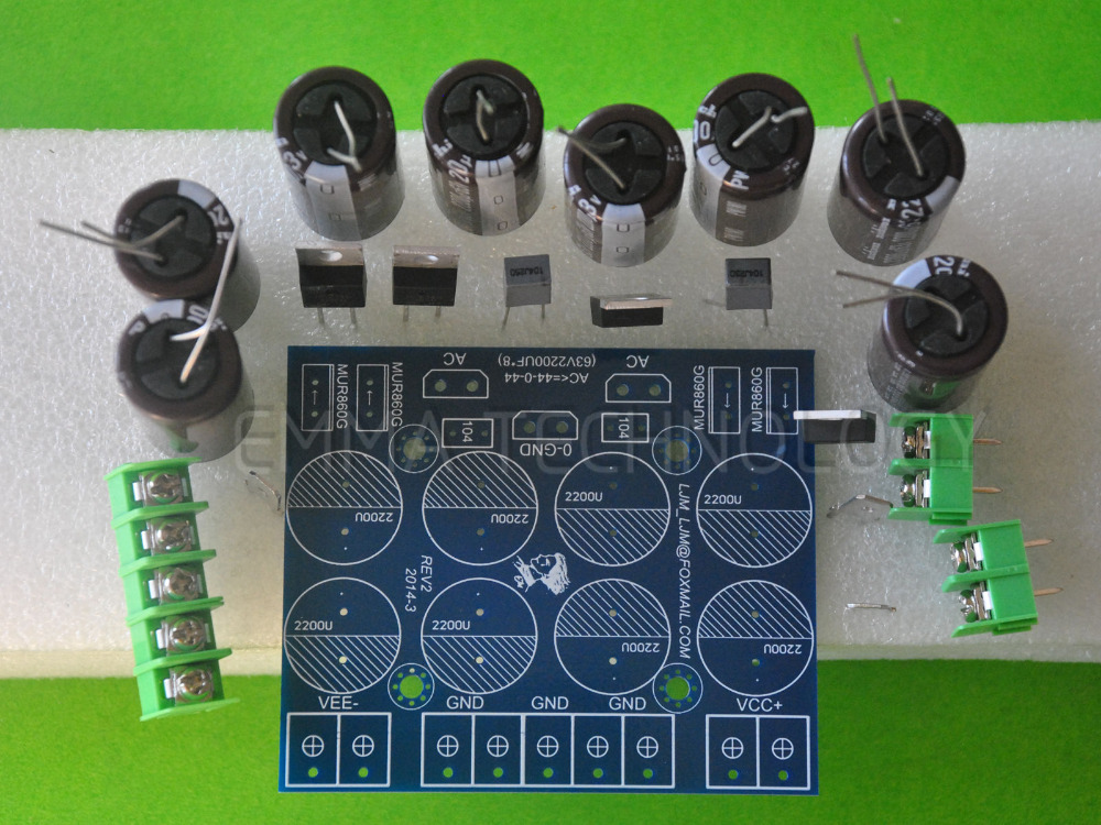 HIFI Stereo 63V2200Uf X 8+MUR860G X 4 Power supply board