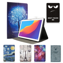Ultra Slim PU Leather Flip Case For Huawei MediaPad T5 10.1 AGS2-W09/L09/L03/W19 Case Cover Tablet Stand Protective Coque Shell цена и фото