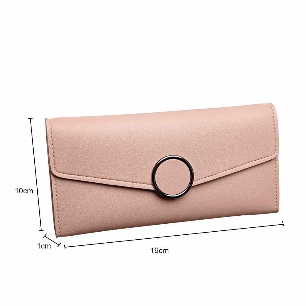 Người phụ nữ Túi Dài Hàn Quốc phiên bản của đa-bit thẻ khóa nhỏ ví ví womens ví và túi xách monedero mujer piel