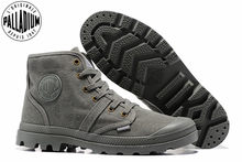 PALLADIUM Pampa Hi 52352 Comfortable Sneakers Men High-top Ankle Boots  Comfortable Lace Up Canvas Men Casual Shoes Size 40-45 3f2bc8901e