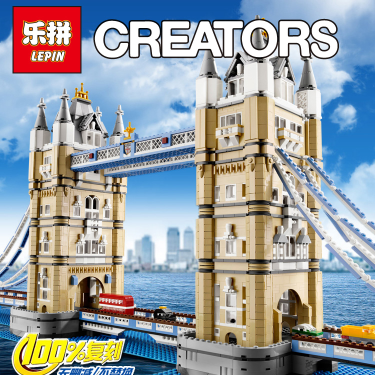 LEPIN 17004 4295Pcs Creator Expert London Tower Bridge Model Building Kits Blocks Bricks Toys Gift Compatible legoed 10214 lepin 22001 pirate ship imperial warships model building block briks toys gift 1717pcs compatible legoed 10210