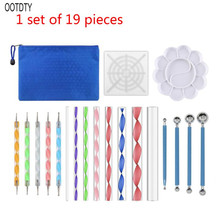 19PCS Mandala Dotting Tools Set Pen Stencil Ball Stylus Paint Tray for Painting Rocks, Coloring, Drawing