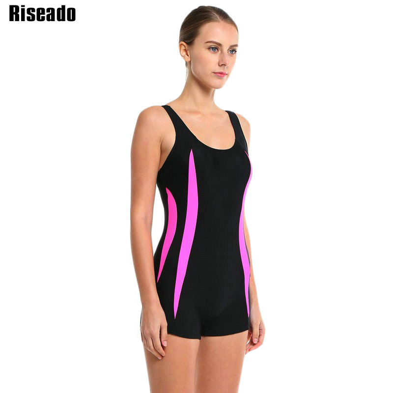 Riseado New 2019 One Piece Swimsuits Patchwork Swimwear Women Women - Veshje sportive dhe aksesorë sportive - Foto 3