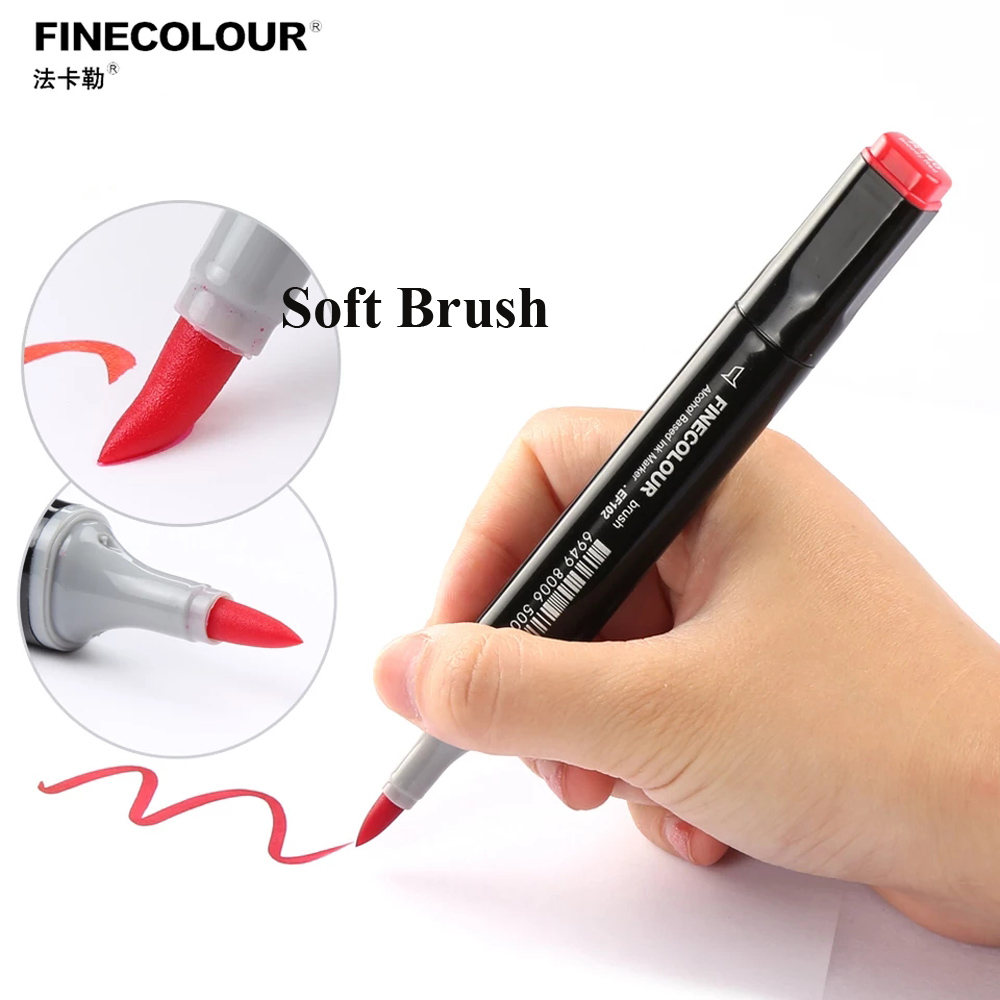 Image 4 - Finecolour 12 24 36 Colors Skin Tones Soft Brush Markers Alcohol Based Artist Double Headed  Professional Sketch Marker Pen-in Art Markers from Office & School Supplies