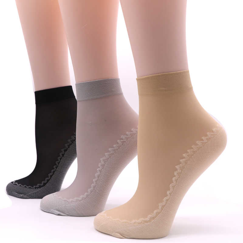 33168fc15 5Pair Breathable Transparent Socks Women Meias Summer Short Socks  Calcetines Mujer Bottom Thicken Non Slip Sock