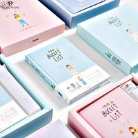 Cute Kawaii Love Heart Planner A6 Gift Box Notebook Hardcover Diary Agenda Planner Gift Notepads Supplier