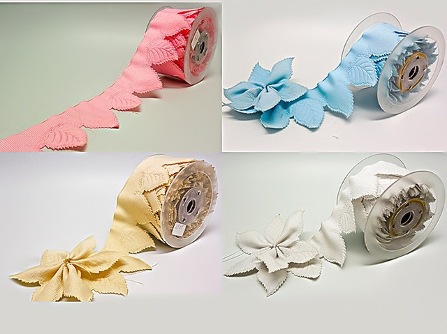 4colors 10yards leaves Flower PULL BOW Ribbon FOR JORDAN ALMONDS ...