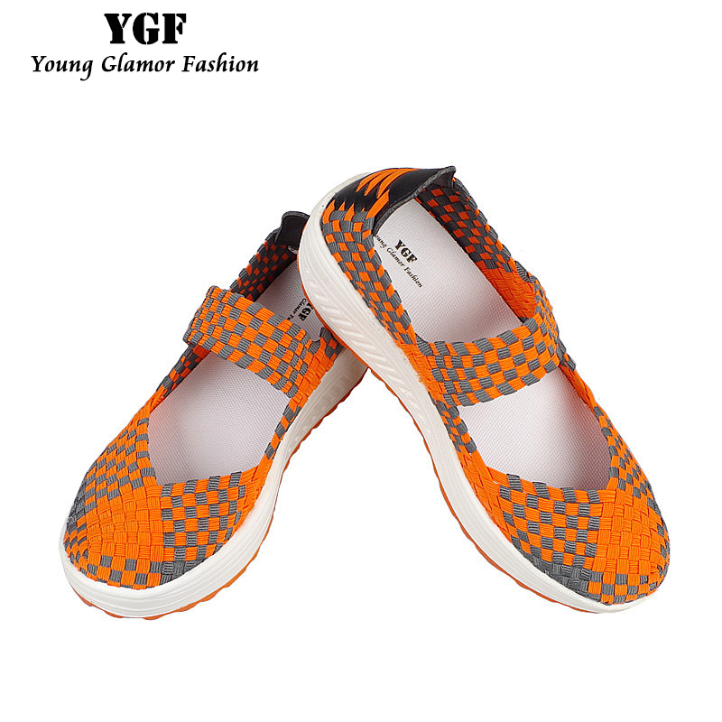 YGF New 2017 Casual Women Slimming Shoes Platform Shoes Wedges Height Increasing Spring Summer Women Fitness Swing Mother Shoes  title=