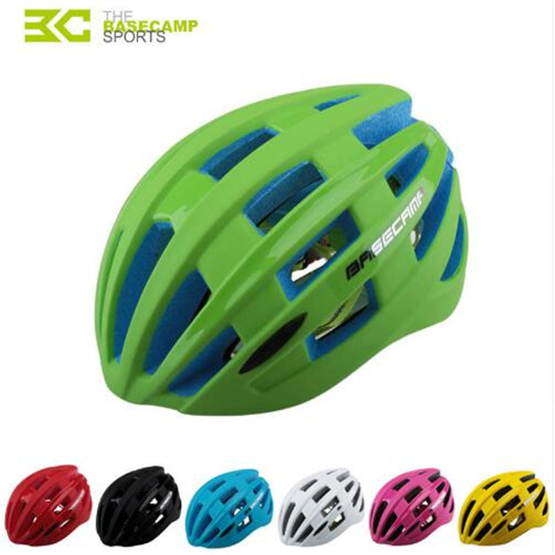 BaseCamp Professional Cycling Helmet Men Outdoor Bicycle Bike Safety Helmet with Tail Lamp Integrally Molded Helmet 7 Colors basecamp integrally molded helmet bike bicycle helmet outdoor sport riding bike head protector cycling helmet riding accessories