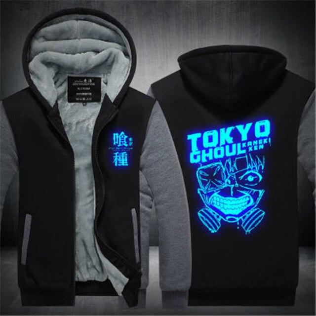 Аниме толстовка теплая Токийский Гуль Маска Кен Канеки