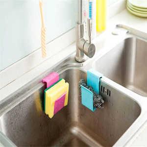 Image 2 - Kitchen Storage Rack Towel Soap Dish Holder Kitchen Bathroom Sink Dish Sponge Storage shelf Holder Rack Robe Hooks Sucker