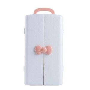 Image 5 - Kozmetik saklama kutusu, plastik masa dolabı, tuvalet masası, cilt bakım ürünü bitirme kutusu, Prenses ruj rafı.
