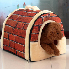Pet Dog Cat Home Kennel House Multifuctional Bed Nest Foldable Pad For Small Medium Dogs Bag