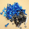 Aftermarket free shipping motorcycle parts Spike Fairing windscreen Bolts kits For Suzu GSXR600 750 1000 Hayabusa BlUE