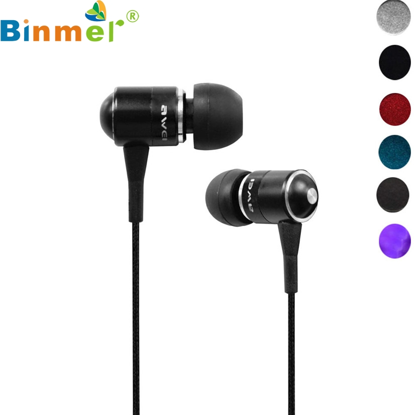 Factory Price Binmer Awei Q3 fone de ouvido Earphone Super Bass For Cellphone Mp3 Mp4 160906 Drop Shipping RE18 factory price binmer 3 5mm in ear earphone headset for tablet mp3 data cable drop shipping hot selling good quality
