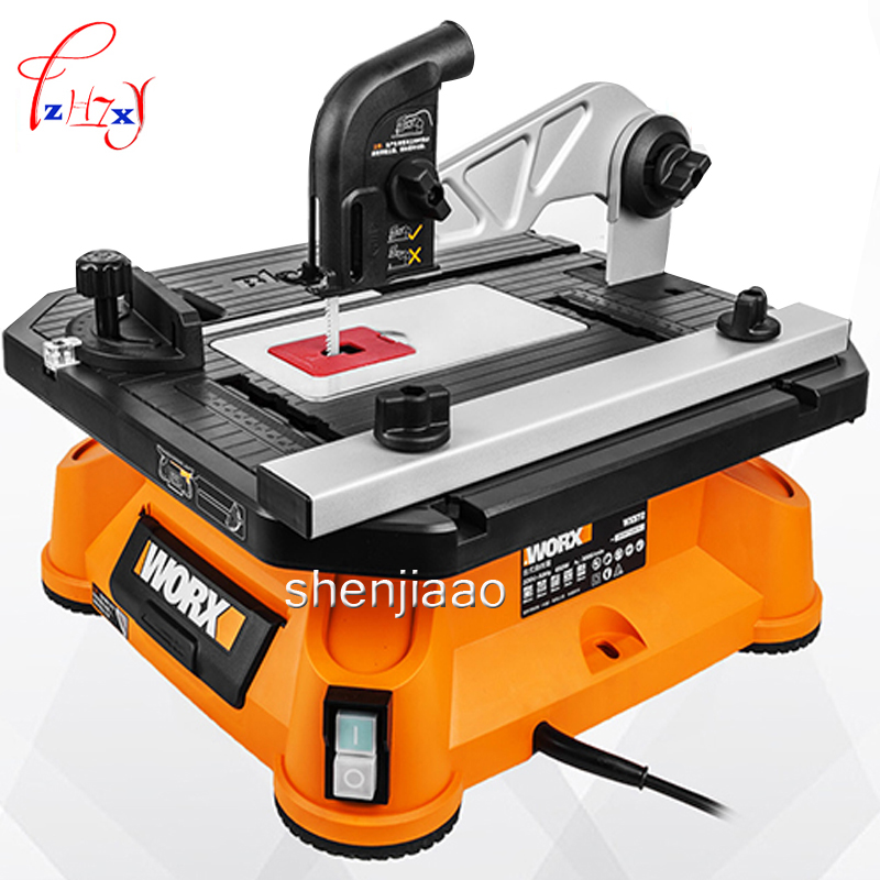 Multi function Table Saw WX572 Jigsaw Chainsaw Cutting Machine Sawing Tools Woodworking 650W Domestic Power Tools 220V 1PC
