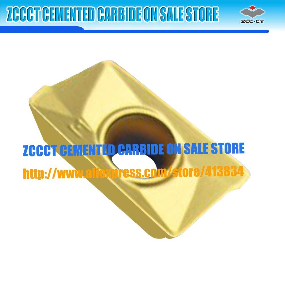 10pcs/lot APKT160408-PM YBM251 ZCCCT Cemented Carbide CNC milling insert APKT 160408-PM APKT160408 stainless steel inserts rdkw 10t3mo ybg202 10pcs lot zcc ct diamond brand cemented carbide cnc cutting tools inserts
