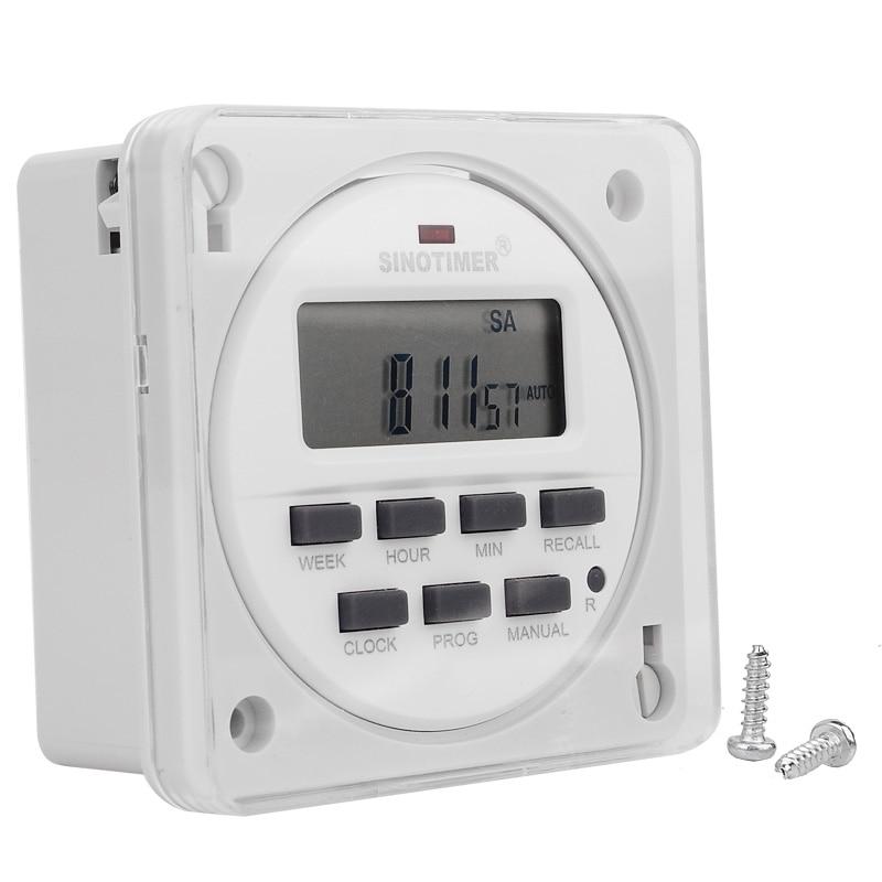 12/24 Formato 12 V DC Timer Switch 7 giorni 24 ore programmabile Orologio programmatore Pannello di controllo montato con funzione di conto alla rovescia OFF