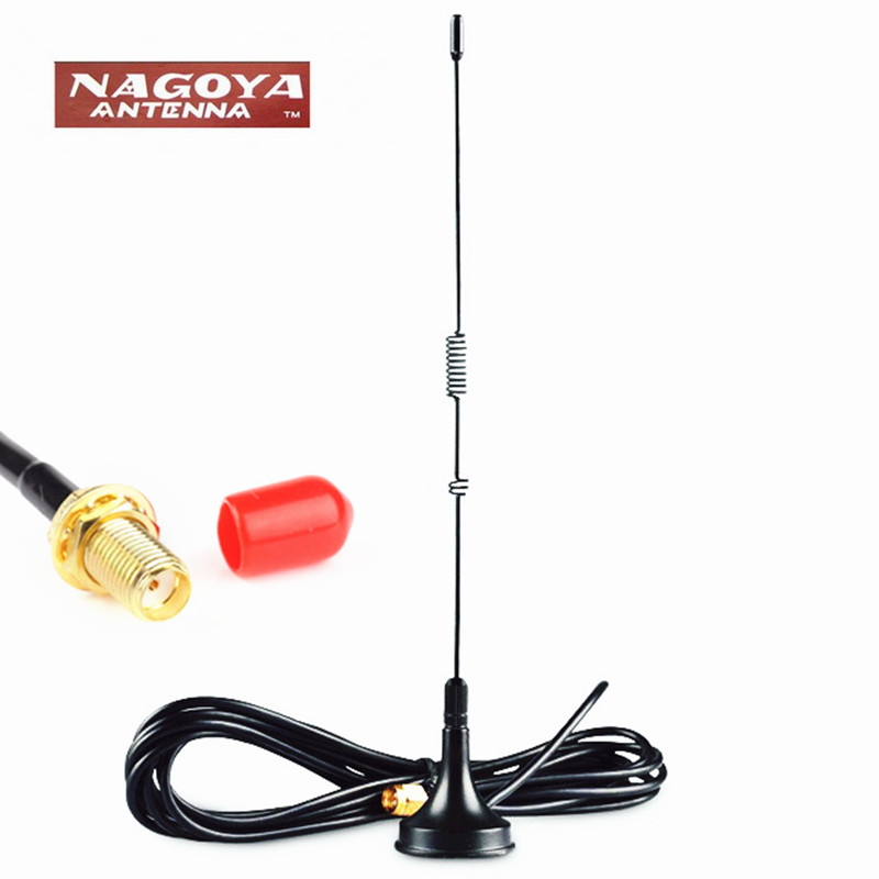 NAGOYA UT-106UV Antenna Magnetic Vehicle DIAMOND SMA-Female 40cm Long Antenna For Portable HM Radio  BF-888S UV-5R UV-82