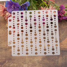 Circles of different sizes Sticker Painting Stencils for Diy Scrapbooking Stamps Home Decor Paper Card Template Decoration Album