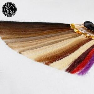 Image 3 - Mèches de cheveux naturels 100% Remy pour Salon, bagues/lot de couleurs disponibles, 26 couleurs, peuvent être teints pour échantillon, livraison gratuite