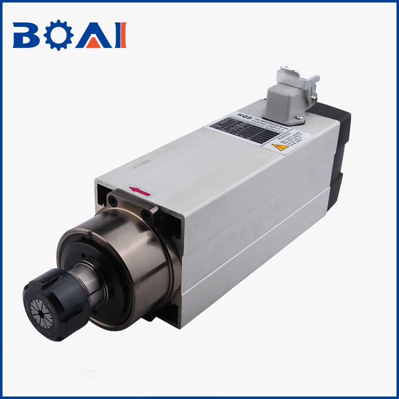 HQD 3 5KW square air cooled spindle four bearing engraving machine woodworking high speed air cooled