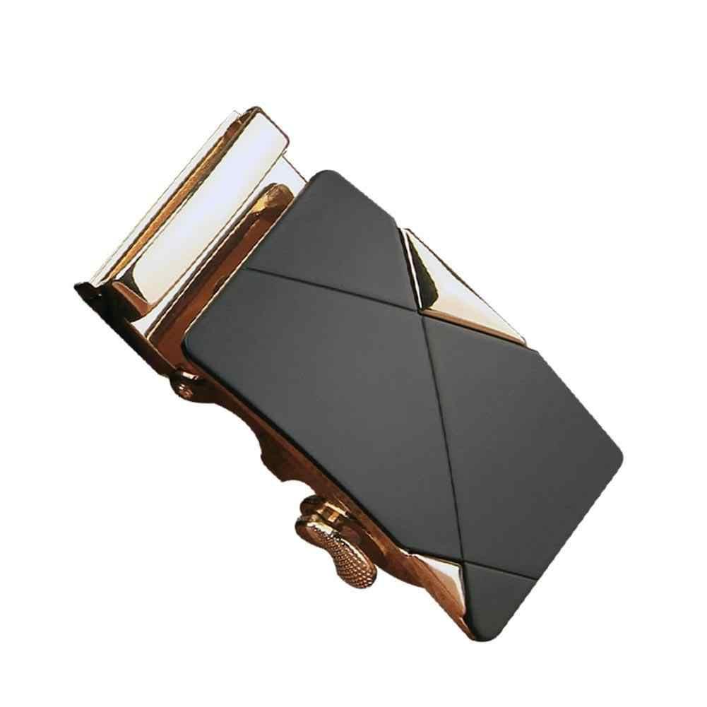 แฟชั่น Luxury Alloy เข็มขัดอัตโนมัติหัวเข็มขัดหนังผู้ชายเข็มขัดเอว GOLD