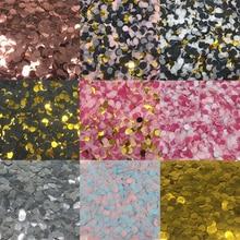 1 см 10 г/пакет, разноцветные Круглые тканевые свадебные конфетти в горошек, воздушные шары для помолвки, дня рождения, украшения стола 62464