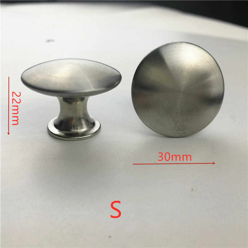 Diameter 30mm 20pcs/lot Stainless steel Satin Knob Pull Handle Kitchen Cabinet Hardware free shipping - S