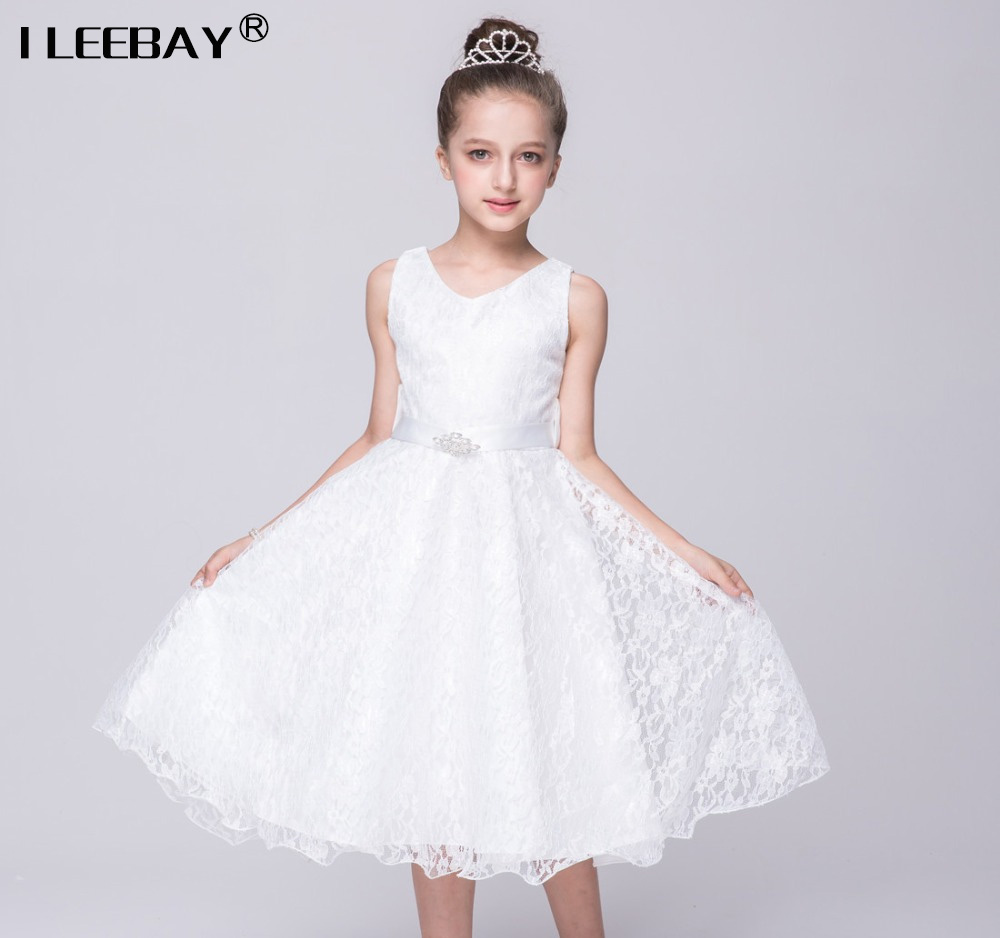 Online buy wholesale girls bridesmaid dresses size 7 8 from china 2017 bridesmaid marriage teenage girls dresses prom lace big girl dress sleeveless enfant wedding dress white ombrellifo Gallery