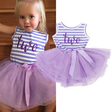 01e78689370f Summer Toddler Baby Dress First Communion Stripe Baptism Child Clothes 1  Year Birthday Baby Girls Dresses for Infant 0 2 year