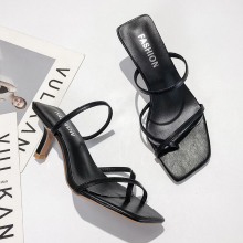 Classics High Heels Sandals Women Strap White Ladies Fashion Slip On Thin Sexy Summer 2019