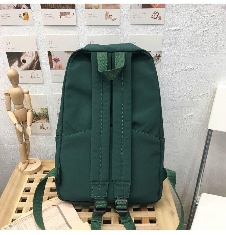 HTB1.mYPXET1gK0jSZFhq6yAtVXa3 2019 Backpack Women Backpack Solid Color Women Shoulder Bag Fashion School Bag For Teenage Girl Children Backpacks Travel Bag