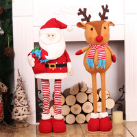 Chirstmas Doll Santa Claus Elk Standing Dolls Christmas Tree Decoration Big Size Standing Figurines Navidad 2018 Merry Christmas
