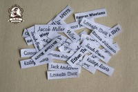 140 Custom Clothing Labels - Personalized Name Tags For Children, Clothing Name Labels,Organic Cotton Iron on Labels, Logo Tags