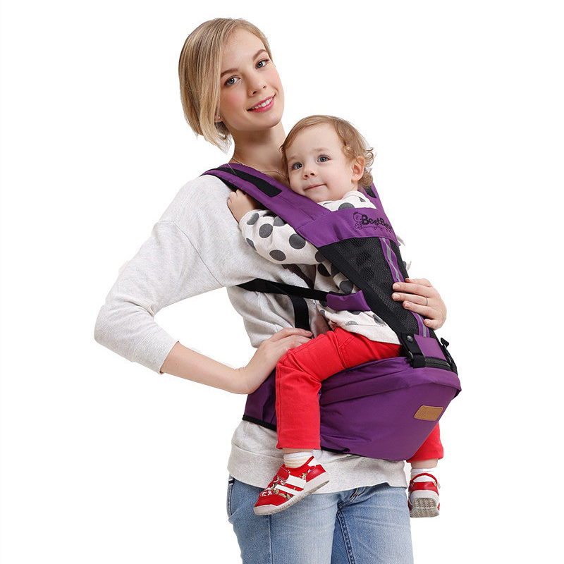 цена на Updated 0-36 Months Breathable Multifunctional Front Facing Baby Carrier Infant Baby Sling Backpack Pouch Wrap Baby Kangaroo