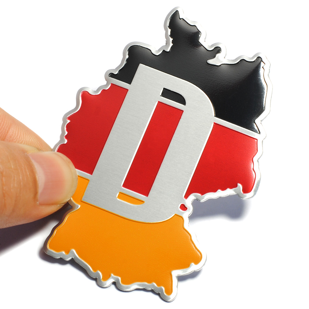 Brand 3D Aluminum Germany National Flag Car Sticker Emblem for BMW VW Audi Buick Chevrolet Cruze Chrysler Jeep Dodge Ford Focus