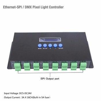 Ethernet DMX protocol ArtNet To SPI DMX Pixel Light controller 340