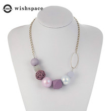Europe and the United States big exaggerated geometry candy color fashion sweater necklace