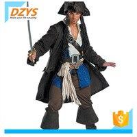 XZ Хэллоуин Пират капитан Джек костюм косплей мужской пират платье Карибский пиратский Bandit костюм