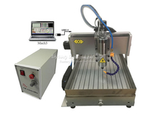 3axis cnc lathe machine 3040Z VFD800W USB port and with water tank cnc router