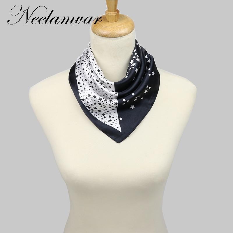 Women Pattern Printed Silk Scarf Starry sky Scarf Small 60*60cm Kerchief Scarf New Arrival Women Winter Scarf free shipping