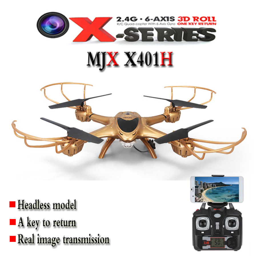 RC Helicopter MJX X401H 2.4GHz 6-axis Altitude Hold WiFi FPV Video Real-time Transmission Quadcopter Drone With Camera радиоуправляемый инверторный квадрокоптер mjx x904 rtf 2 4g x904 mjx