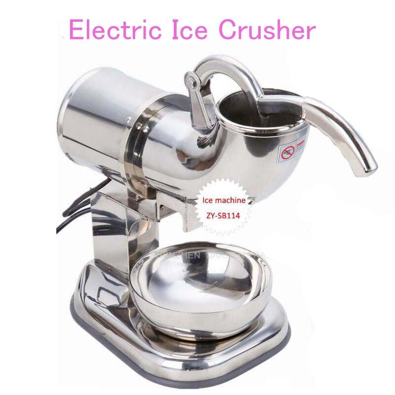 110V/220V Electric Ice Crusher Stainless Steel Ice Shaver Machine Ice Sand Maker Ice Cream Machine ZY-SB114 ce fried ice cream machine stainless steel fried ice machine single round pan ice pan machine thai ice cream roll machine